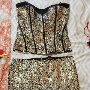 Sequins Top and bottom